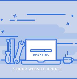 3 Hour Website Updates and Maintenance